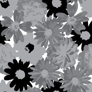 Grey & Black Flowers