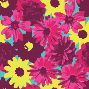 Purple, Pink & Yellow Flowers