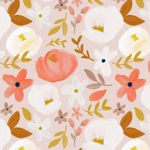 November's Florals - Autumn Blush  - Small Scale