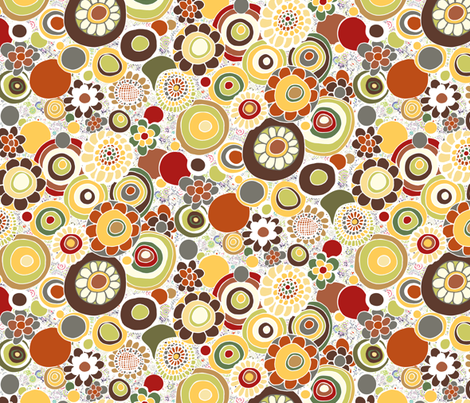 Earthy Hippie Flowers fabric by jaanahalme on Spoonflower - custom fabric