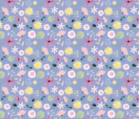 Milly Bloom fabric by fleur_&_grace on Spoonflower - custom fabric