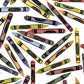 autumn crayons