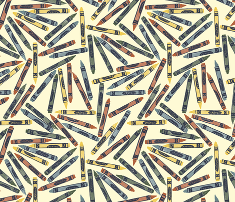 Bayeux palette crayons fabric by weavingmajor on Spoonflower - custom fabric