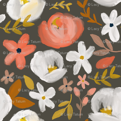 November's Florals - Autumn Charcoal