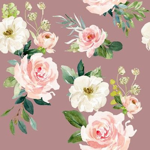 "8"" Chic Blush Roses // Quicksand Pink"
