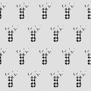 """2"""" Buffalo Plaid Deer Head Pattern 