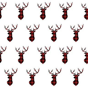 "2"" Buffalo Plaid Deer Head Pattern 