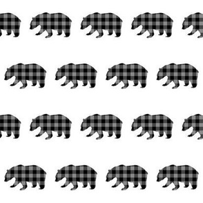 "2"" Buffalo Plaid Black Bear Pattern 