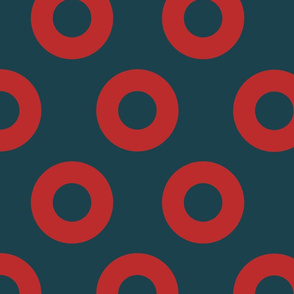 Large Fishman Donut Fabric  in  5 inch donuts