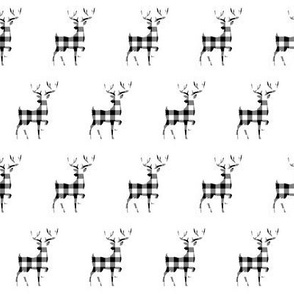"2"" Buffalo Plaid Reindeer Silhouette Pattern 