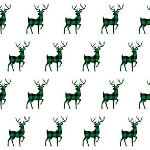 """2"""" Buffalo Plaid Reindeer Silhouette Pattern 