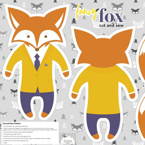 Fancy Fox Cut and Sew Plushie