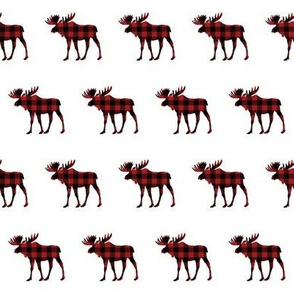 """2"""" Buffalo Plaid Moose Silhouette Pattern 
