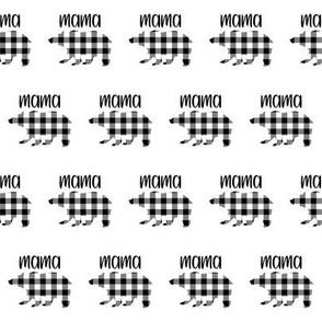 "2"" Buffalo Plaid Mama Bear Silhouette Pattern | Black and White"