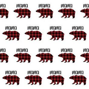"2"" Buffalo Plaid Mama Bear Silhouette Pattern | Red and Black"