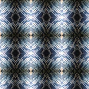 Mirror Image Blue Gray & White
