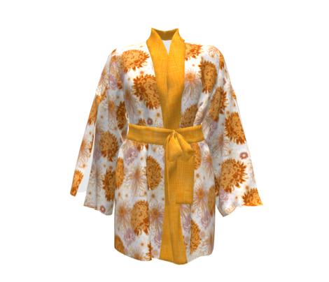 Saffron yellow Linen by Helenpdesigns