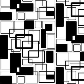 Bw1 Black Noir & White Geometric