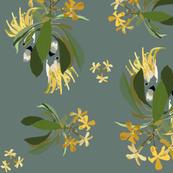 2941-Cockatoo-1-and-Frangipani-Grey-Green