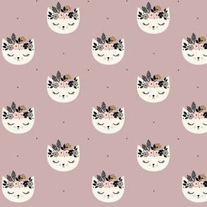 Cat Blossom - Dusty lilac small