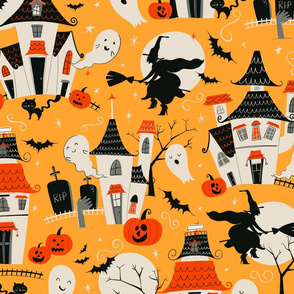 Haunted Houses Pattern