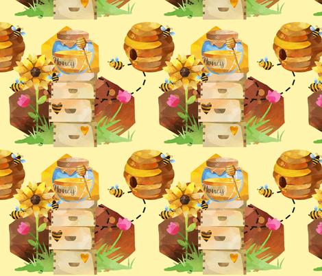 Honey Bee fabric by floramoon on Spoonflower - custom fabric