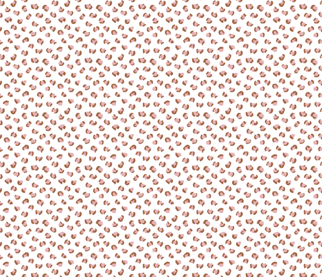 Trendy leopard print animals fur modern Scandinavian style raw brush  abstract pink copper SMALL fabric by littlesmilemakers on Spoonflower - custom fabric