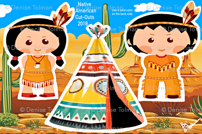 Native American Cut-Outs Front Side 27x18