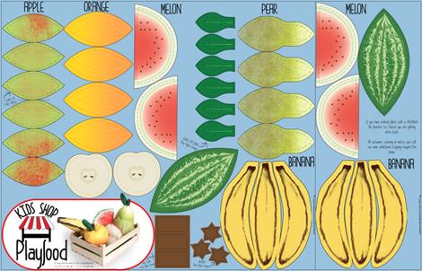 Cut N Sew Playfood: Vol. Fruits fabric by heyjunge on Spoonflower - custom fabric