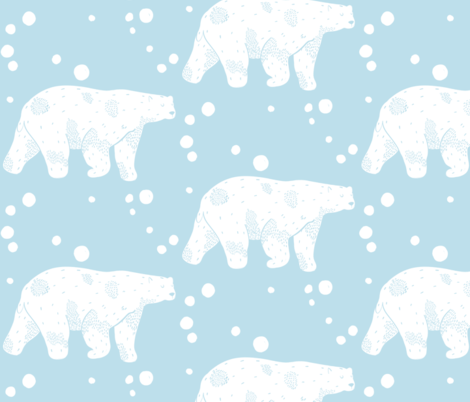 Polar Bear fabric by how-store on Spoonflower - custom fabric