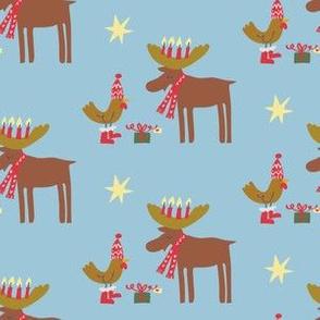 Chicken and Moose Holiday_blue_©Solvejg Makaretz