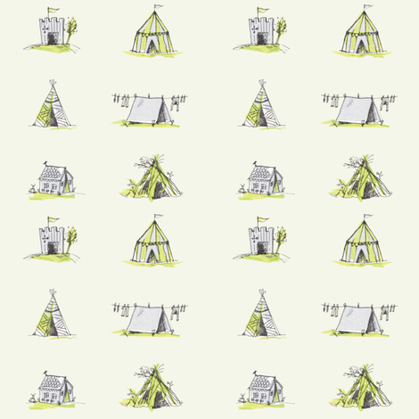 dens fabric by white_bryony_designs on Spoonflower - custom fabric