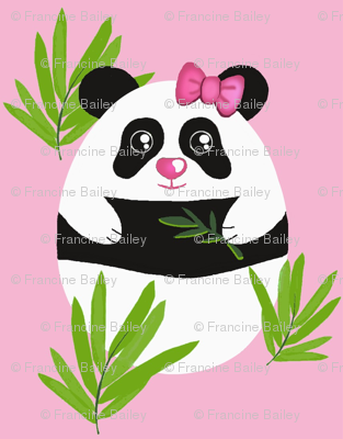 Meditation Panda / Pink