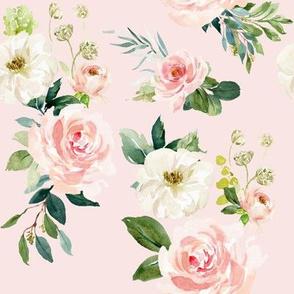 """8"""" Chic Blush Roses // Blush"""