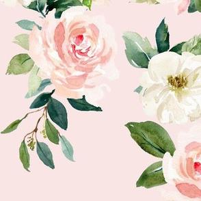 """12"""" Chic Blush Roses // Blush"""