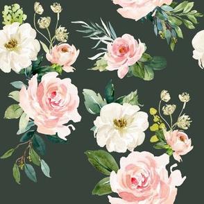 "8"" Chic Blush Roses // Lunar Green"