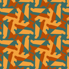Abstract geometric tessellation