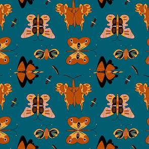 Geometric butterflies (blue)