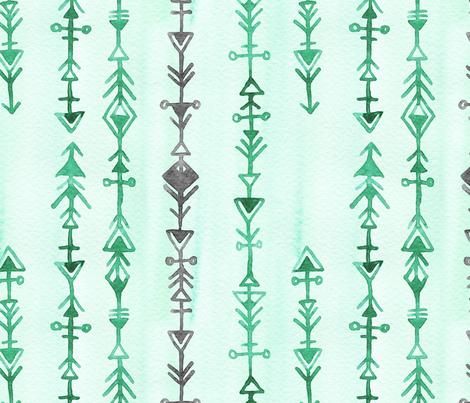 Mint Indian Arrows fabric by sonyara on Spoonflower - custom fabric