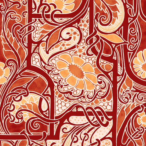 Leaves Of Change fabric by edsel2084 on Spoonflower - custom fabric