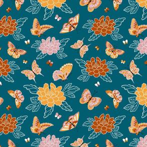 Butterfly garden - limited palette