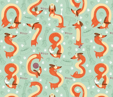 Sausage_Dogs_Numbers fabric by iryna_ruggeri on Spoonflower - custom fabric