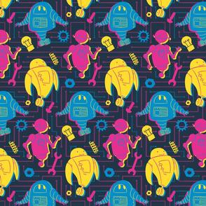 Robots - Dark Background