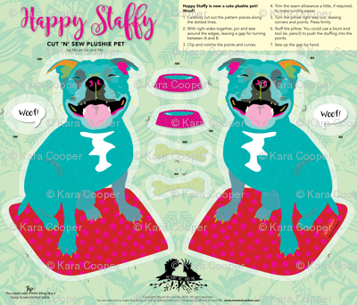 Cut and sew 'Happy Staffy' by Mount Vic and Me