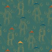 skiing sloths
