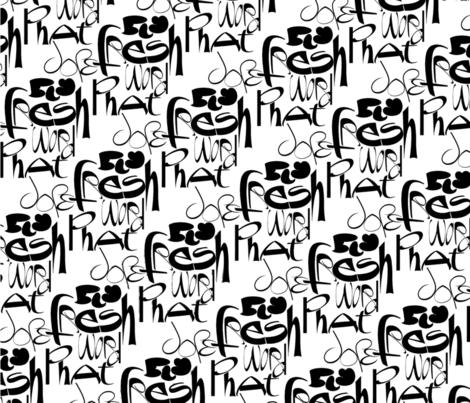 FreshDopePhatFlyWordGraffiti take two fabric by aynek__etselec on Spoonflower - custom fabric