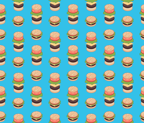 Burger fabric by abbilaura on Spoonflower - custom fabric
