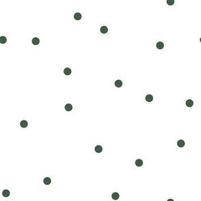 Random Confetti Pattern | Green and White