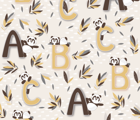 (Jumbo Scale)- The Abc's fabric by madhus4 on Spoonflower - custom fabric