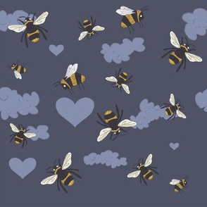 Silly Bees Blue